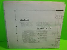 Times Square Shuffle Alley Wiring Diagram Schematic Sheet Original United 1971