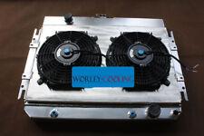 Aluminum radiator + fan shroud for Chevy Impala L6 V8 1963-1968 EI Camino 64-67