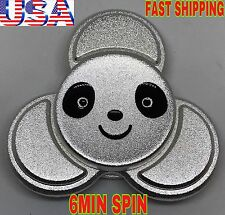 PANDA TRI SPINNER FIDGET,ZINC ALLOY SILVER COLOR,HIGH QUALITY, CHRISTMAS GIFT