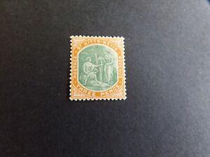 St Kitts Nevis - Edward VII 1905 Three Pence Mounted Mint