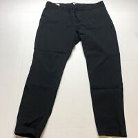 Gap Slim City Pants Black Crop Stretch Size 18 A1685