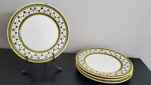Rare Williams-Sonoma Alhambra Nazari Hand-Painted Dessert Plates, Superb Shape!