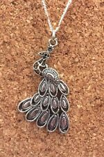 Funky Tibetan Silver Plated Peacock Bird Pendant Chain Necklace Free Shipping