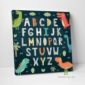 Dinosaur Alphabet Canvas Art Wall Art Children Nursery Kids Print Picture -C726