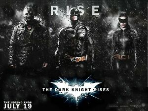 "The Dark Knight Rises custom teaser quad poster 30x40"" Batman Christian Bale"