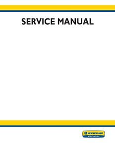New Holland TC30 Tractor Service Repair Manual