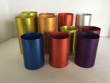 Vintage Set Of 11 Retro Colors Aluminum Perma Hues Drinking Cups/Tumblers/Glasse