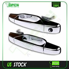Pair Outside Exterior Chrome Door Handle LH +RH Front for Chevy GMC Pickup Truck