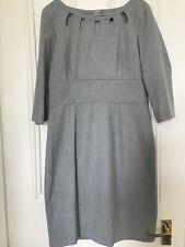 Oasis Grey Fitted Dress With Cut Out Neckline Detail Size 14