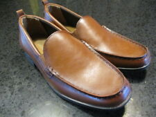 b363041d1f05a6 GEORGE Men s Faux Leather Metropolis Loafer Dress Shoes - Brown Size 10