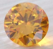 Unheated 15mm AAA Yellow Sapphire Round Faceted Cut 21.05ct VVS Loose Gemstone