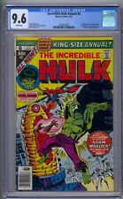 INCREDIBLE HULK ANNUAL #6 CGC 9.6 1ST PARAGON DR. STRANGE APP WHITE PAGES!!!