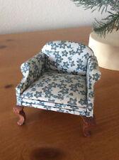Miniature Lawson Club Chair, Dark Green Flowers