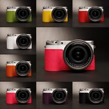 Genuine Real Leather half Camera Case bag Cover for Samsung Nx500 8 colors