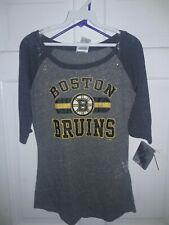 Boston Bruins B's Hockey 1/2 length sleeve T-Shirt NHL NEW -- Women's XL size 15