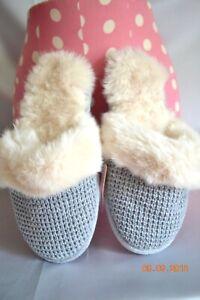 Victorias Secret Faux Rabbit Fur Waffel Slippers Super Soft NWT M 7 / 8