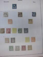 Sammlung Schweiz 1854-1962 mit Helvetia Juventute Patria gestempelt + * (1569)