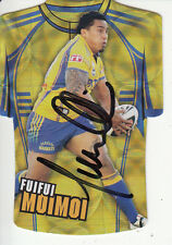 2009 NRL CHAMPIONS JERSEY HOLOFOIL CARD HAND SIGNED - JDC120 FUIFUI MOIMOI EELS