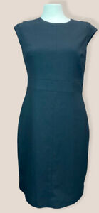 Next Black Knee Length Fitted Shift Dress Cap Sleeves Size 12 BNWT Office Smart