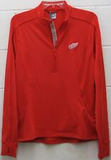 Women's Detroit Red Wings Athletic Jacket 1/2 Zip Pullover NHL Red M Medium New