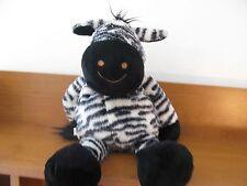 "Dakin plush smiling happy black white zebra lovey soft 18"""