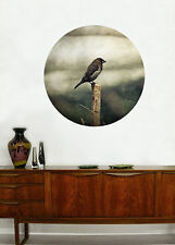 'Birdwatch' Woven Polyester 71x71cm Wall Canvas Poster Picture Self Adhesive