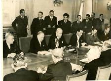Prague 1948, Conférence Tripartite Vintage silver print Tirage argentique  1