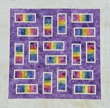 Starr Designs Quilt Kit  Steppin' Stones Purple Queen Hand Dyed Cotton Fabrics