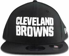 8f4cb543485 Era Cleveland Browns Hat NFL Black White 9fifty Snapback Adjustable Cap Adul