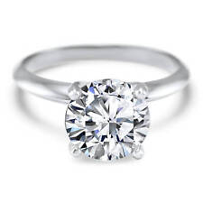 2 Ct Round Cut Lab-created Solitaire Engagement Ring Solid 950 Platinum