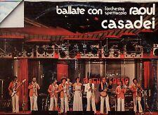 RAOUL CASADEI ORCHESTRA SPETTACOLO disco LP 33 BALLATE CON made in ITALY 1975 2A