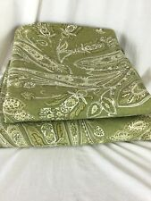 POTTERY BARN ELLA Set of 2 Panels PAISLEY GREEN PAIR DRAPES CURTAINS 50 X 84