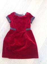 Kleid Mädchen Bonpoint rot samt