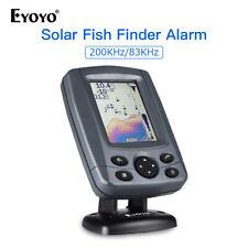 Eyoyo Sonar Fish Finder Sunlight Readable 0.6M to 300M Echo Alarm Depth Locator