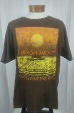 """Jason Mraz """"Love is a four letter word"""" Organic Cotton Concert Tour T-Shirt XL"""