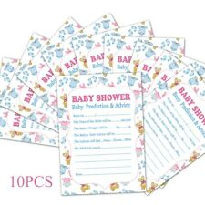 10PCS  A5 Baby Shower Prediction Game Card Sheet Advice Boy Girl Party Supplies