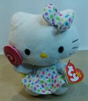 NEW Ty HELLO KITTY Beanie baby by Sanrio Soft  Plush Toy with Lolliepop 2012