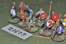 25 mm Dark Ages/ANGLO Saxon-GUERRIERI 10 Fichi FANTERIA-INF (21677)