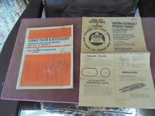 VINTAGE LIONEL TRAIN & ACCESSORY OPERATING AND WIRING MANUAL AND AHM CATALOG