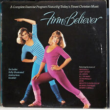 FIRM BELIEVER LP 80's Christian Aerobic Exercise & Booklet! Gospel VA  WTF Vinyl