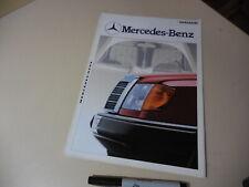 Mercedes-Benz LineUp Japanese Brochure 1985/10