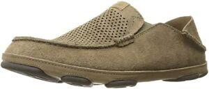 OLUKAI Men's Moloa Kohana Slip-On Shoes, Clay/Clay, 11 D(M) US
