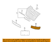 AUDI OEM 06-07 S4 Front Bumper-Lower Bottom Grille Grill Right 8E0807682JZ9Y