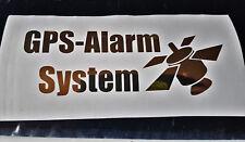 Gold Chrom Aufkleber GPS Alarm System  Auto Car Sticker Decal JDM Tuning Warnung