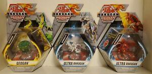 Bakugan Geogan Rising. Viperagon, Dragonoid Ultra, & Fenneca Ultra. Set of 3