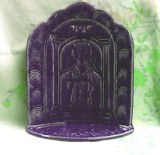 Greek Goddess Hekate Hecate Wheel Raku Ceramic Altar Purple Offering Shrine #PS