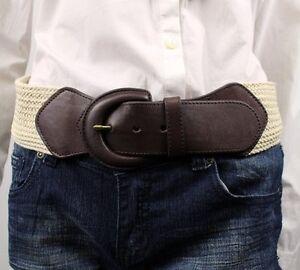 Ralph Lauren Womens Brown Leather Braided Belt NWT