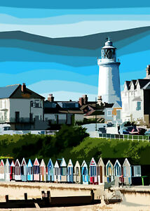 Southwold Lighthouse and BeachLimited Print By Sarah Jane Holt