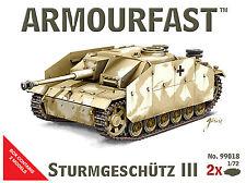 NEW Armourfast 1/72 Sturmgeschutz III  Model Kit - Contains 2 Tanks (13259)