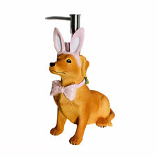 Croscill Easter Dog in Pink Bunny Ears & Bow Tie Hand Bath Pump Soap Dispenser
